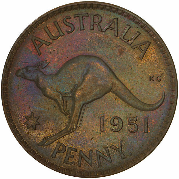 Penny 1951: Photo Proof Coin - 1 Penny, Australia, 1951