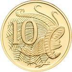 Australia / Ten Cents 2007 / Gold Proof FDC - reverse photo