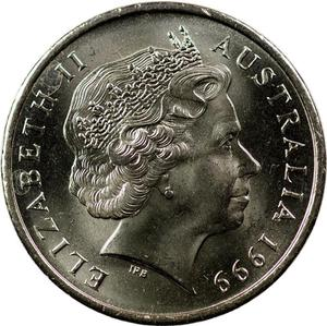 Australia / Five Cents 1999 - obverse photo