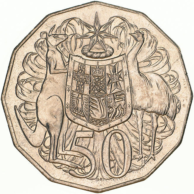 Fifty Cents 1999: Photo Coin - 50 Cents, Australia, 1999