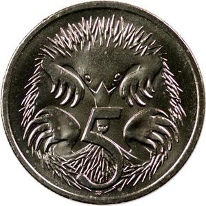 Australia / Five Cents 1999 - reverse photo