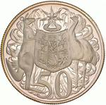 Fifty Cents 1966 (round, silver): Photo Proof Coin - 50 Cents, Australia, 1966