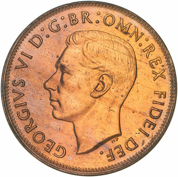 Penny: Photo Proof Coin - 1 Penny, Australia, 1949