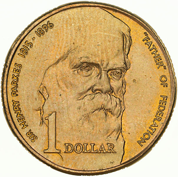 Australia / One Dollar 1996 Sir Henry Parkes - reverse photo