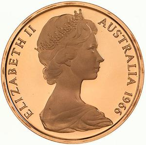 Australia / Two Cents 1966 - obverse photo
