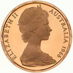 Australia / Two Cents 1966 / Proof (Royal Australian Mint) - obverse photo