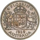 Australia / Florin 1939 / Proof - reverse photo