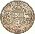 Australia / Florin 1951 / Proof - reverse photo