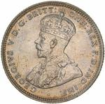 Australia / Shilling 1920 / Star pattern (Melbourne Mint, debased silver) - obverse photo
