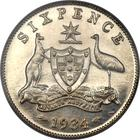 Australia / Sixpence 1934 / Proof - reverse photo