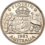 Australia / Florin 1963 / Proof - reverse photo