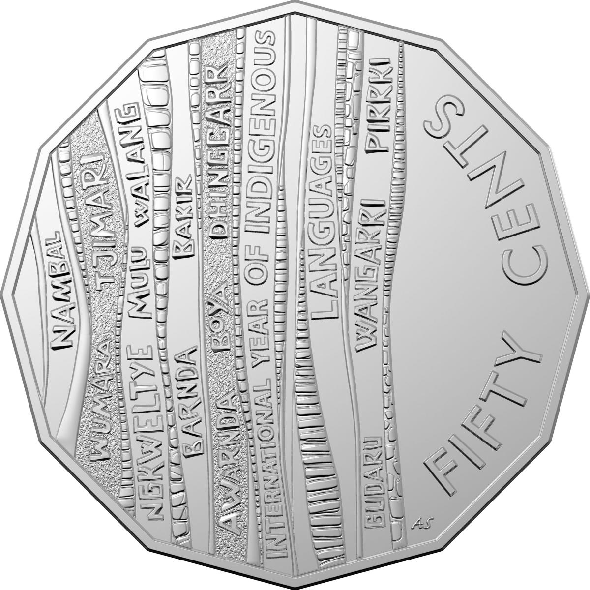 Fifty Cents 2019 Indigenous Languages Coin From Australia