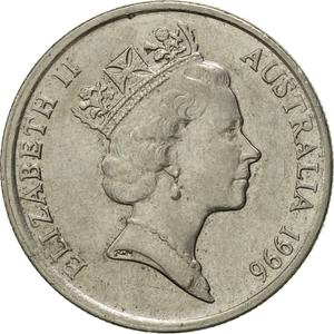 Australia / Five Cents 1996 - obverse photo