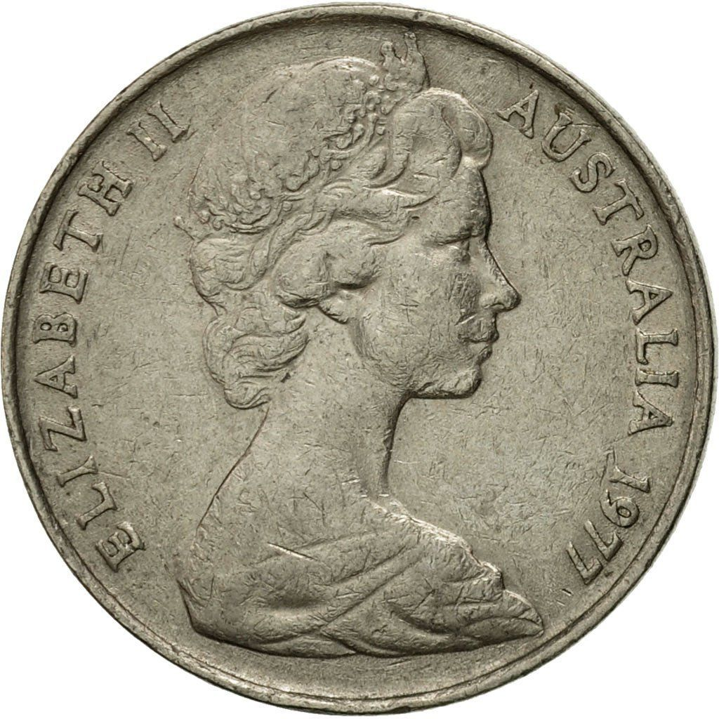 Ten Cents 1977: Photo Coin, Australia, Elizabeth II, 10 Cents, 1977