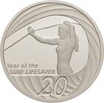 Australia / Twenty Cents 2007 Year of the Life Saver (NCLT) / Silver Proof FDC - reverse photo