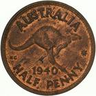 Australia / Halfpenny 1940 - reverse photo