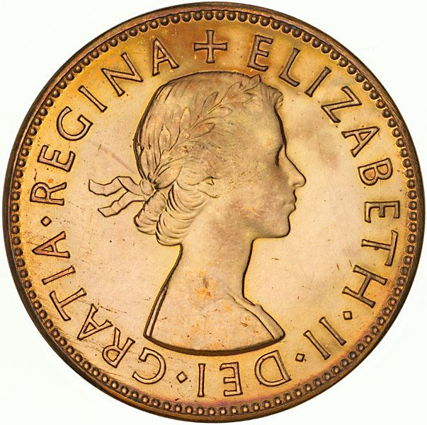 Halfpenny: Photo Proof Coin - Halfpenny, Australia, 1953