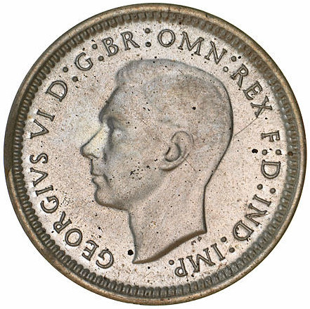 Threepence: Photo Proof Coin - Threepence, Australia, 1939