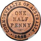 Australia / Halfpenny 1938 / Proof - reverse photo