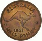 Australia / Halfpenny 1951 / Proof (No dot) - reverse photo