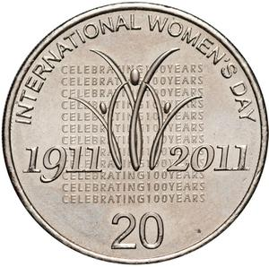 Australia / Twenty Cents 2011 International Women's Day - reverse photo