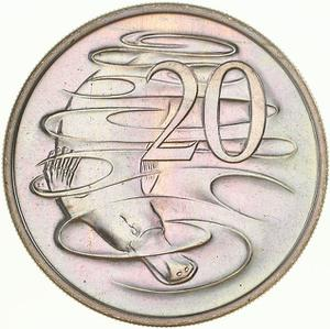 Australia / Twenty Cents 1972 - reverse photo