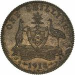 Shilling 1918: Photo Pattern Coin - 1 Shilling, Australia, 1918