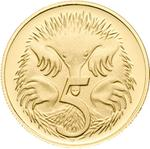Australia / Five Cents 2006 / Gold Proof FDC - reverse photo