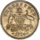 Threepence 1914: Photo Australia 1914 3 pence