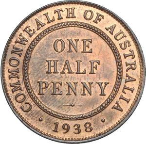 Australia / Halfpenny 1938 - reverse photo