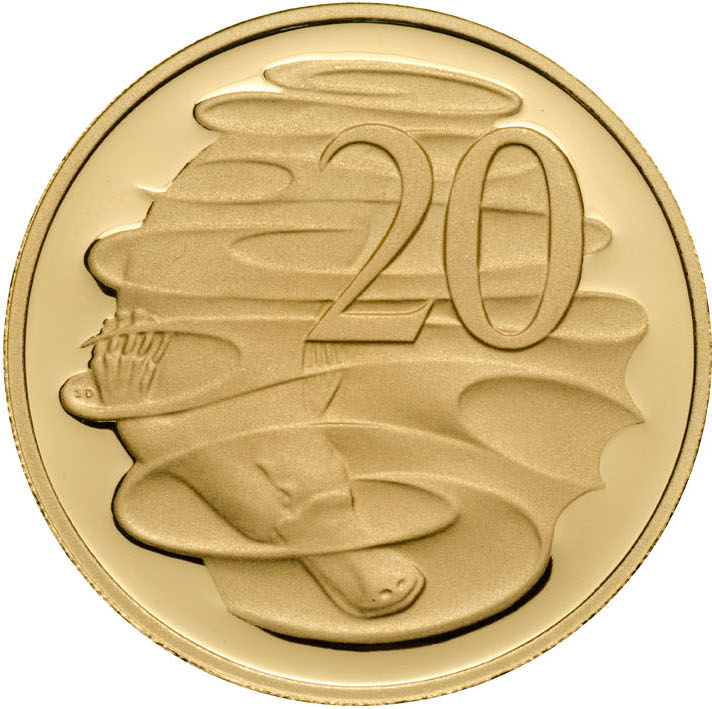 Twenty Cents 2006: Photo 2006 20c Gold Proof for the Proof Year Set