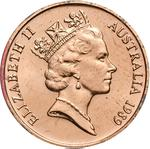 Australia / Two Cents 1989 - obverse photo