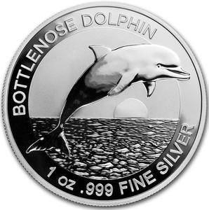 Australia / Silver Ounce 2019 Bottlenose Dolphin - reverse photo