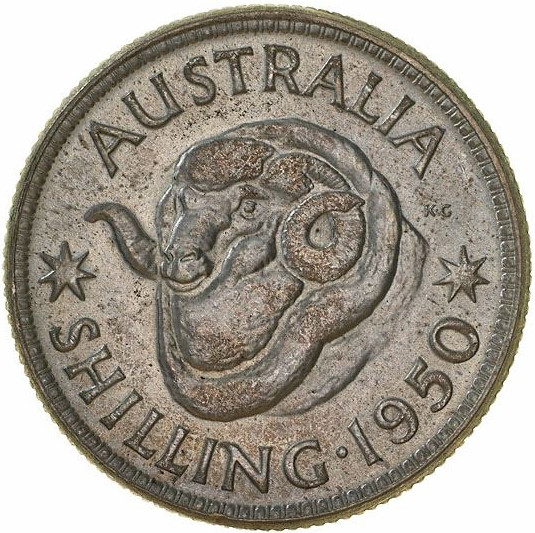 Shilling 1950: Photo Coin - 1 Shilling, Australia, 1950