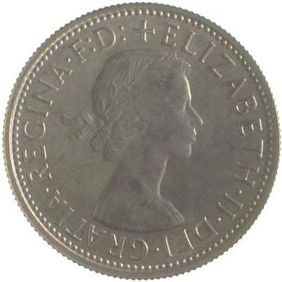 Florin 1957: Photo Proof Coin - Florin (2 Shillings), Australia, 1957