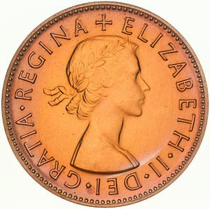 Australia / Halfpenny 1955 - obverse photo