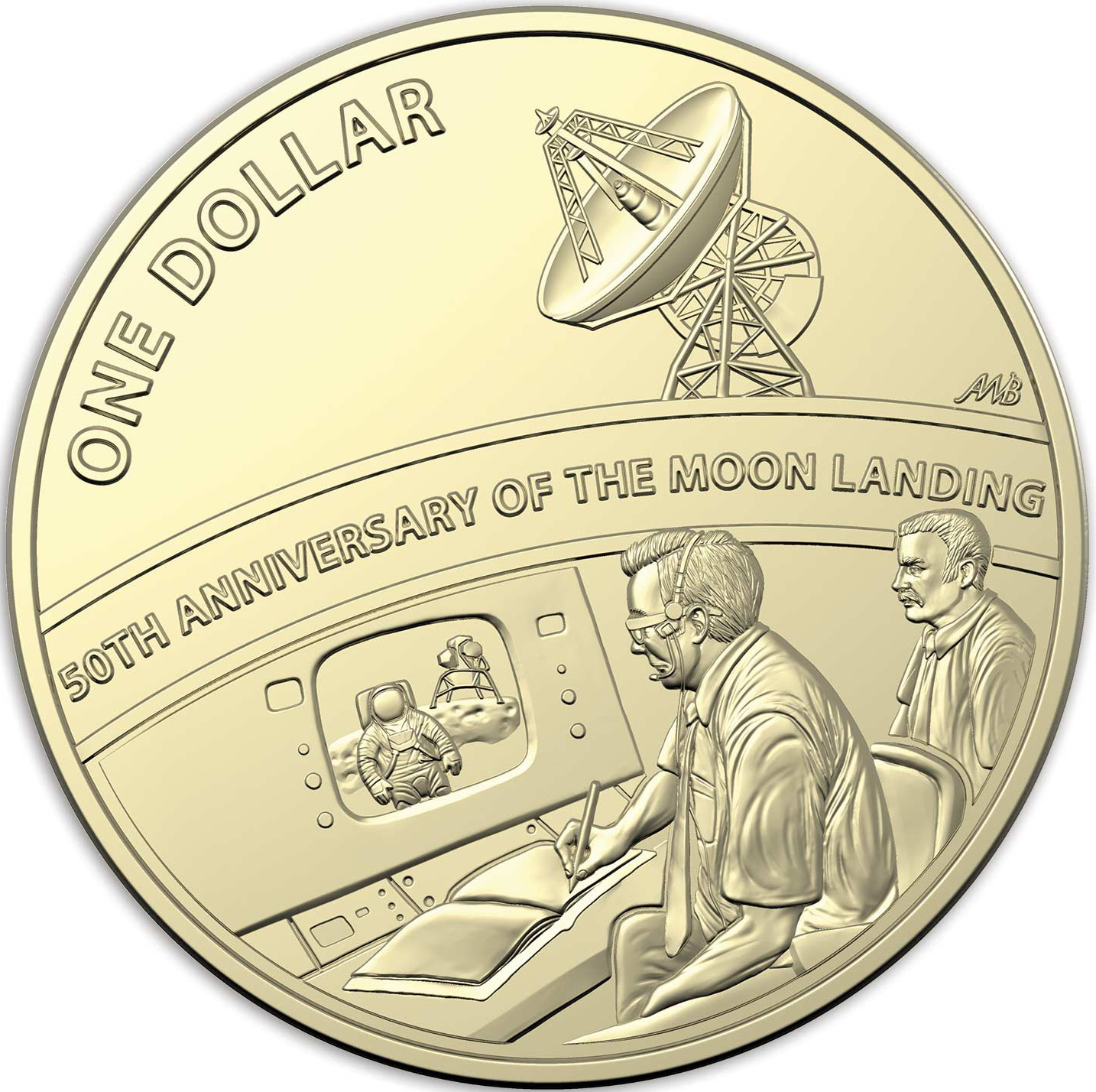 One Dollar 2019 Moon Landing: Photo 50th Anniversary of the Moon Landing - $1
