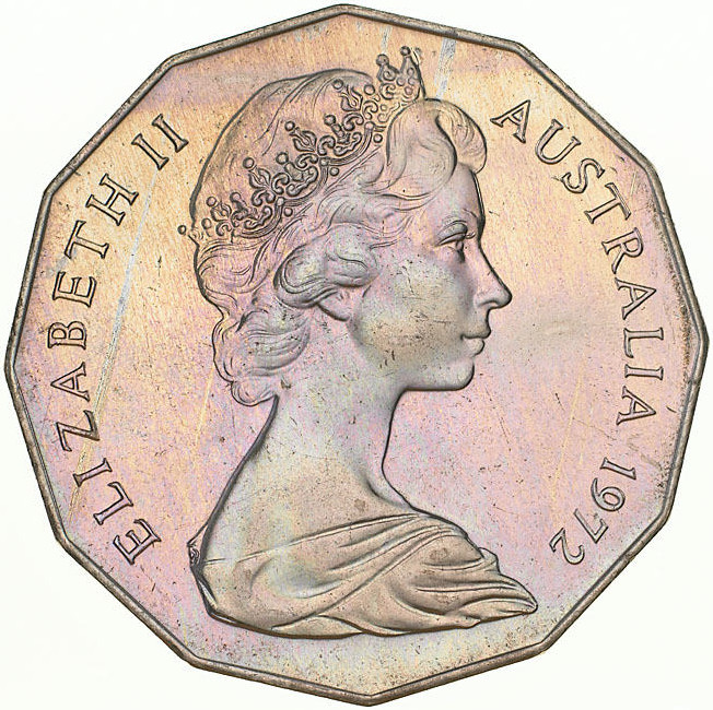Fifty Cents 1972: Photo Coin - 50 Cents, Australia, 1972