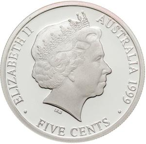 Australia / Five Cents 1999 (Silver, Half Penny) - obverse photo