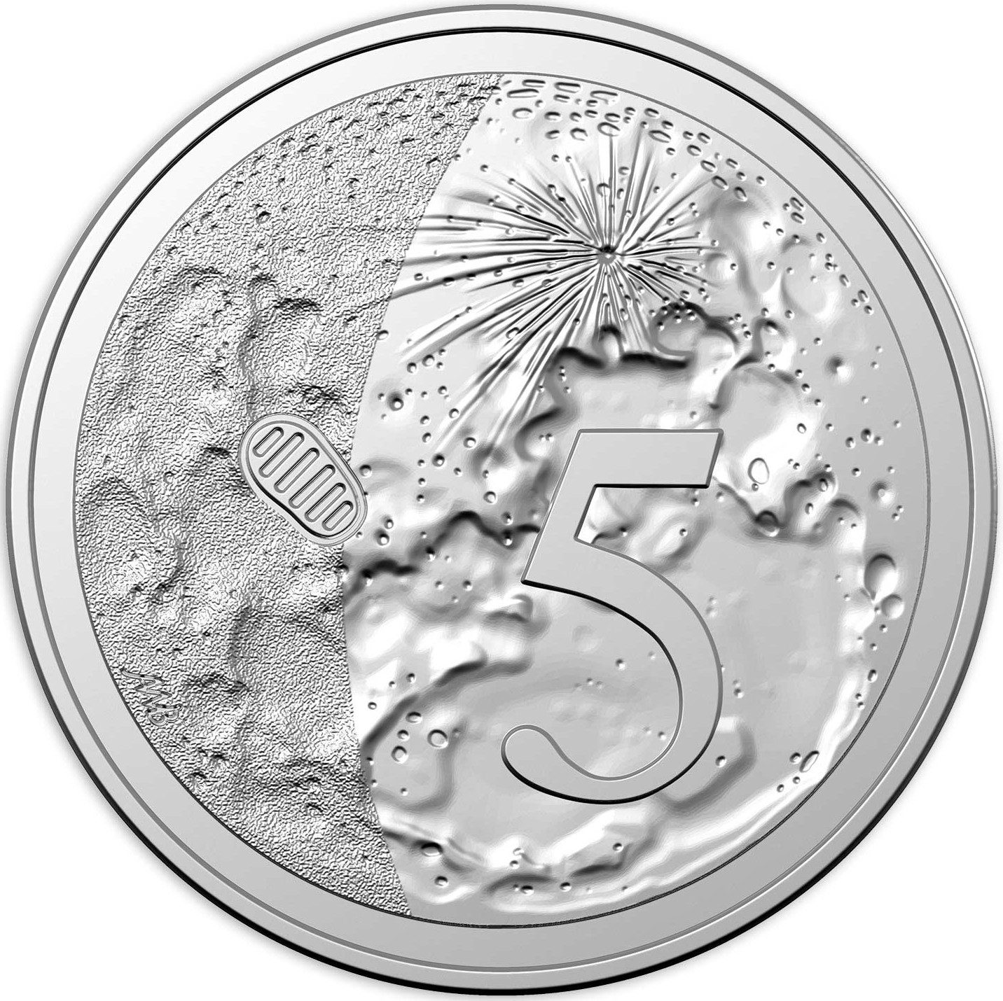 Five Cents 2019 Moon Landing (NCLT): Photo 50th Anniversary of the Moon Landing - 5 Cents