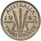 Threepence 1943: Photo Coin - Threepence, Australia, 1943