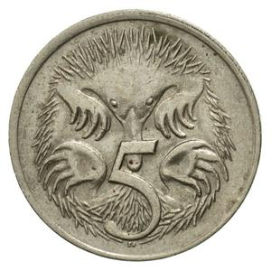 Australia / Five Cents 1977 - reverse photo