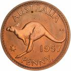 Penny 1957: Photo Proof Coin - 1 Penny, Australia, 1957