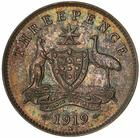 Threepence 1919: Photo Specimen Coin - Threepence, Australia, 1919