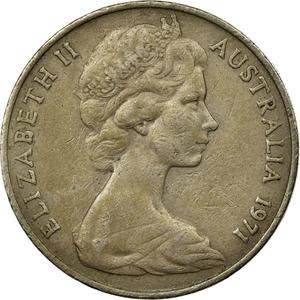 Australia / Twenty Cents 1971 - obverse photo