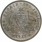 Florin 1935: Photo Proof Coin - Florin (2 Shillings), Specimen Strike, Australia, 1935
