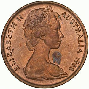 Australia / One Cent 1968 - obverse photo