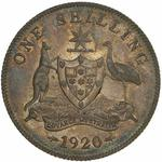 Australia / Shilling 1920 / No mint mark - reverse photo