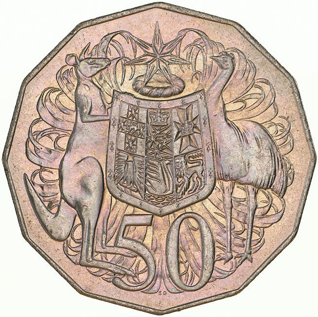 Fifty Cents 1975: Photo Coin - 50 Cents, Australia, 1975