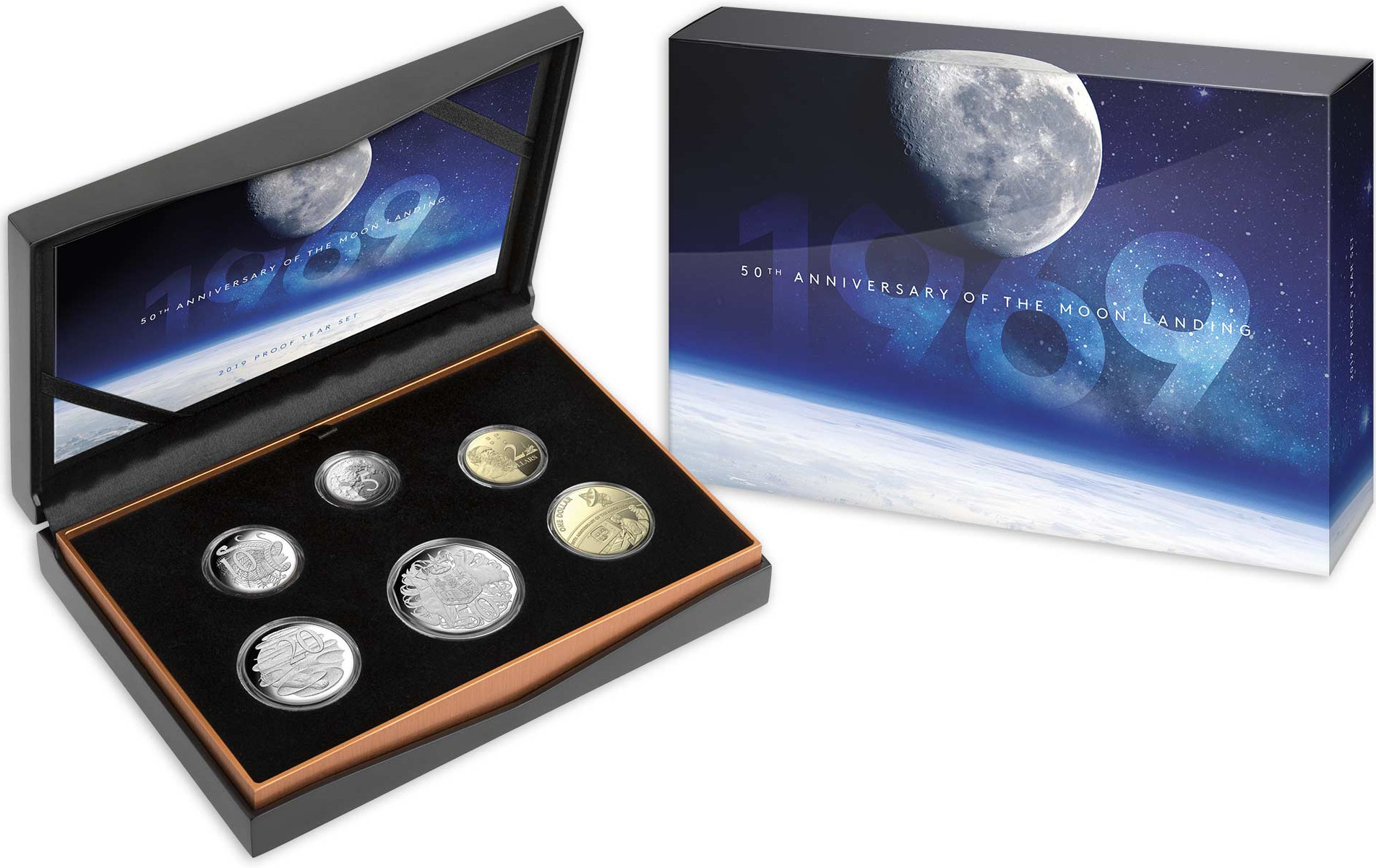 Five Cents 2019 Moon Landing (NCLT): Photo 50th Anniversary of the Moon Landing